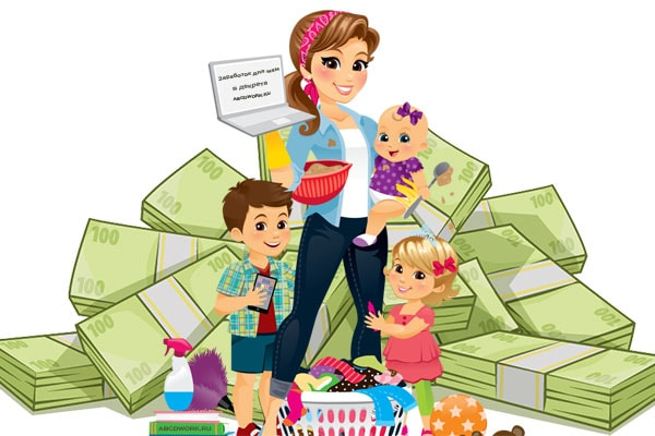 заработок в интернете на дому без вложений для мам в декрете