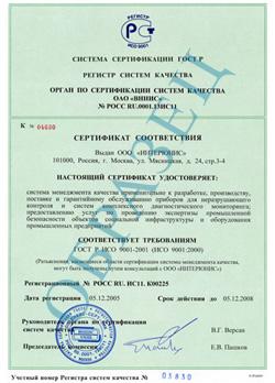Сертификат системы ГОСТ Р